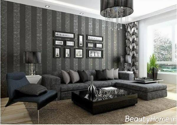 طراحی اتاق نشیمن با تم خاکستری