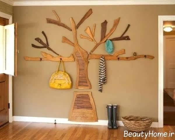 طرح درختی جالباسی دیواری