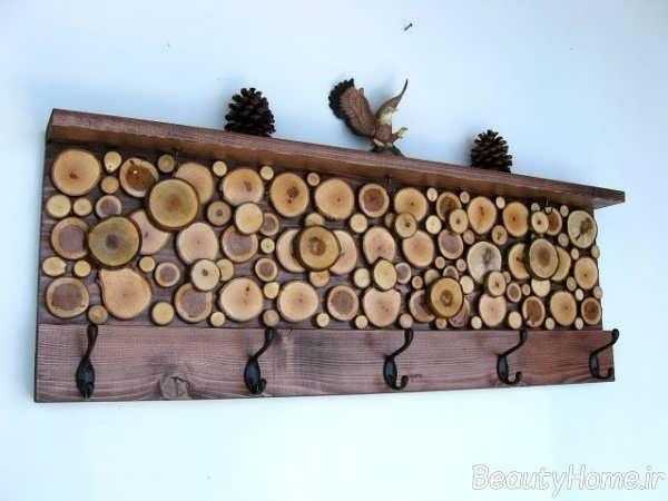 دیزاین زیبای طرح چوب جالباسی