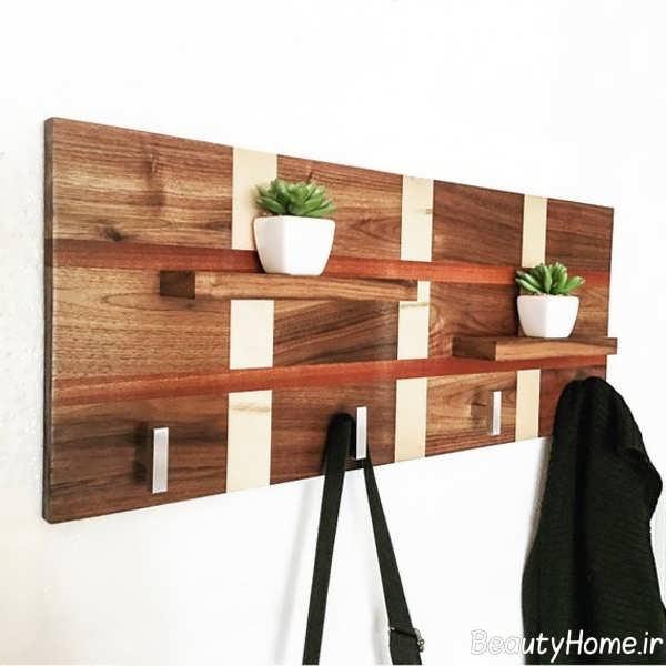 جالباسی چوبی دیواری