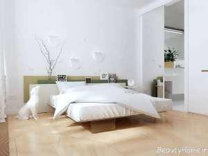 دکوراسیون سفید و بی نظیر اتاق خواب