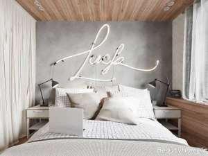 دکوراسیون سفید و خاکستری اتاق خواب