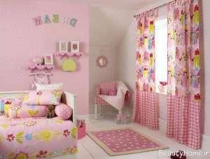 مدل پرده زیبا برای اتاق خواب دخترانه