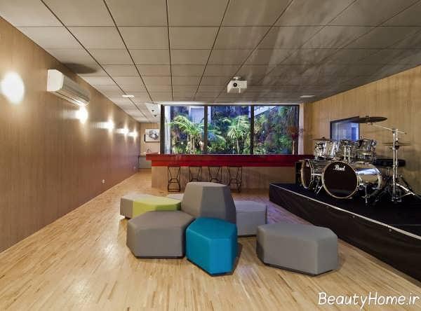 طراحی داخلی اتاق موسیقی