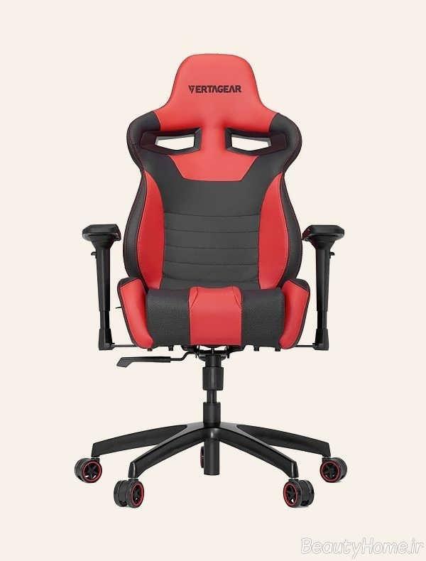 تم قرمز و مشکی صندلی کامپیوتر