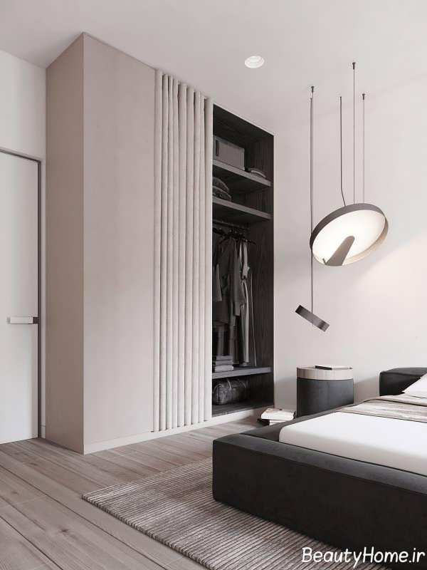 اتاق خواب با دکوراسیون بژ