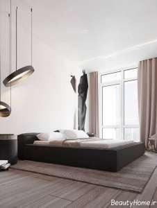دیزاین اتاق خواب با رنگ بژ
