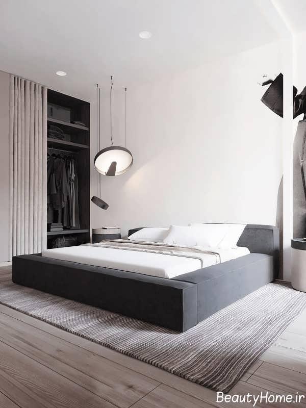 اتاق خواب زیبا با طراحی مدرن