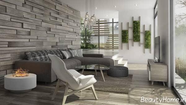 طراحی داخلی زیبا و شیک سالن پذیرایی
