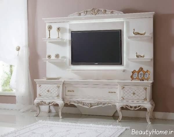 مدل میز تلویزیون سفید