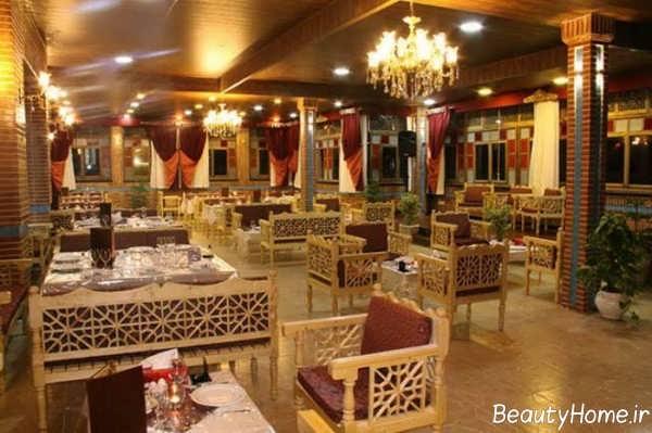 دکوراسیون زیبا و خاص رستوران