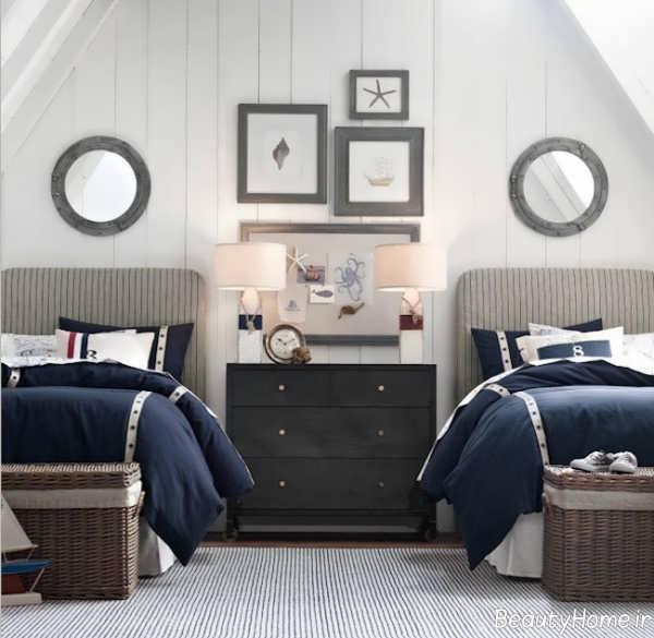 دکوراسیون شیک و مدرن اتاق خواب دوقلو
