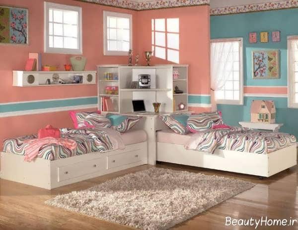 طراحی داخلی اتاق دوقلو