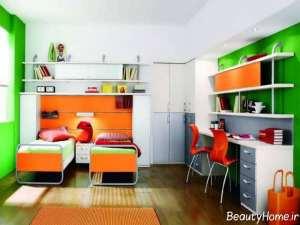 دکوراسیون داخلی اتاق دوقلو