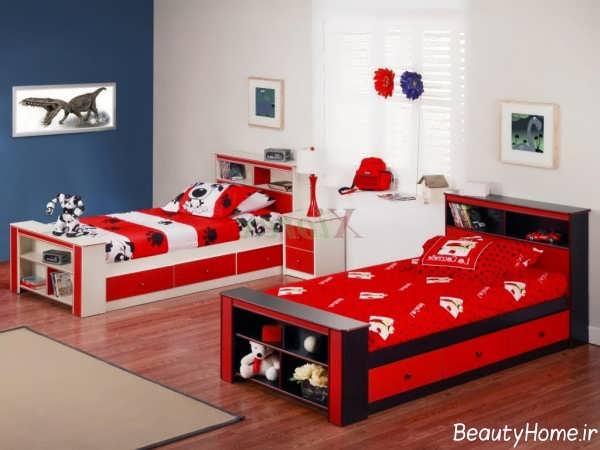 دکوراسیون زیبا و کاربردی اتاق خواب دوقلو