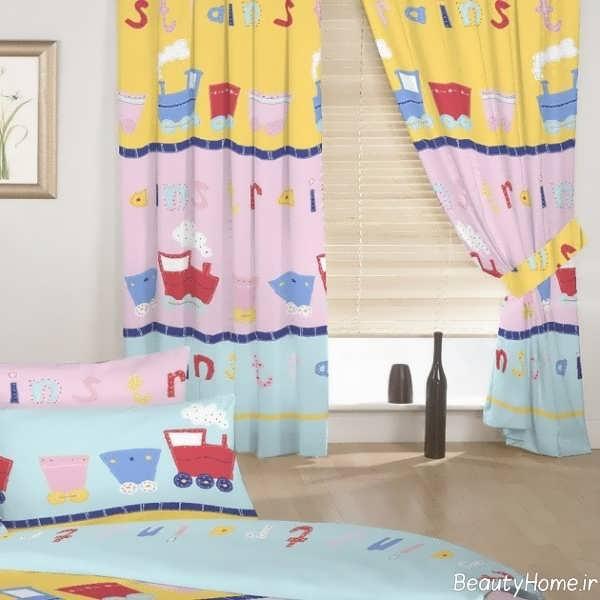 مدل پرده طرح دار برای اتاق کودک
