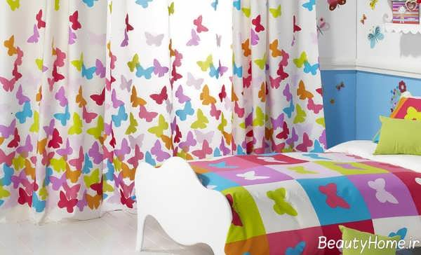 مدل پرده طرح دار اتاق کودک