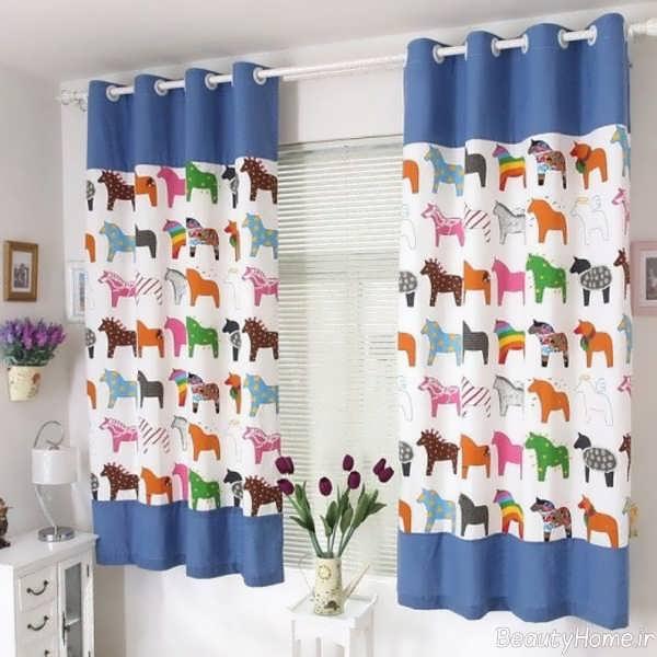 پرده طرح دار برای اتاق کودک