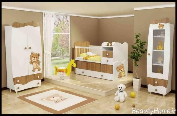 مدل سرویس خواب تدی برای نوزاد