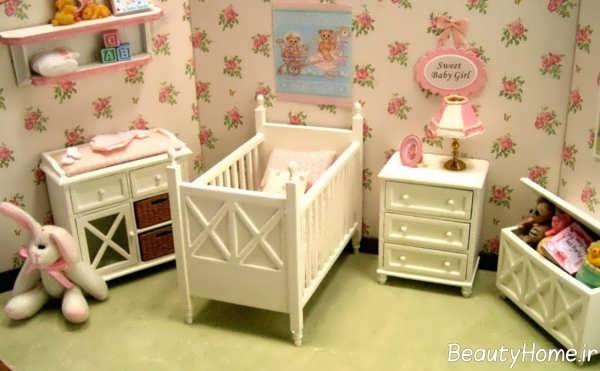 مدل سرویس خواب نوزاد زیبا و ساده
