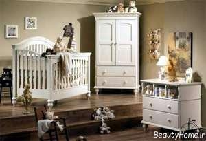 مدل سرویس خواب نوزاد سفید