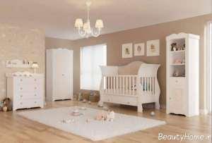 مدل سرویس خواب سفید نوزاد
