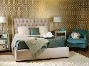 مدل کاغذ دیواری طلایی و شیک