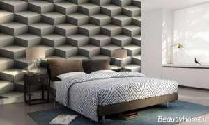 کاغذ دیواری سه بعدی مخصوص اتاق خواب