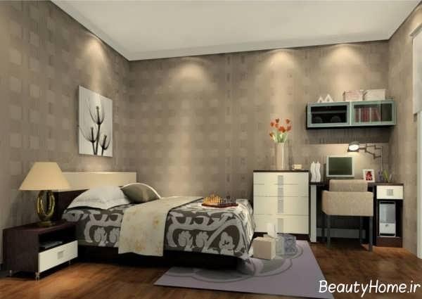 مدل کاغذ دیواری شیک مخصوص اتاق خواب