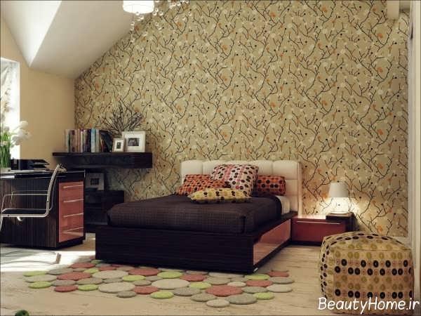 کاغذ دیواری زیبا مخصوص اتاق خواب