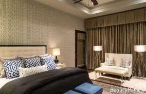 طراحی داخلی اتاق خواب با کاغذ دیواری