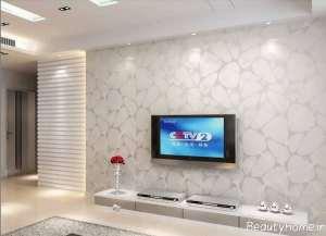 مدل کاغذ دیواری برای سالن پذیرایی