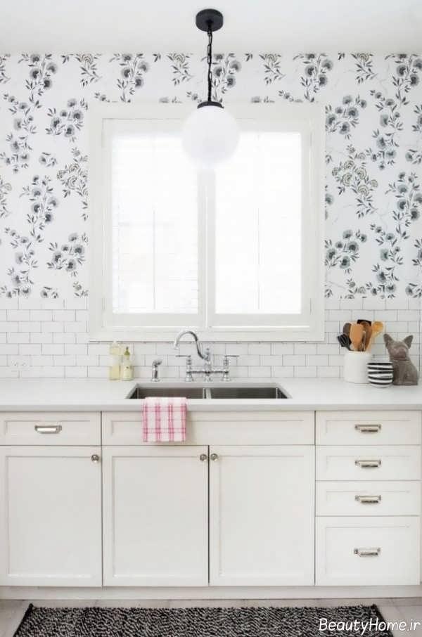 کاغذ دیواری روشن برای آشپزخانه