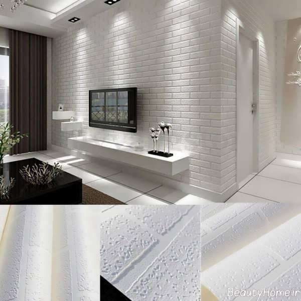 مدل کاغذ دیواری شیک و رنگ روشن