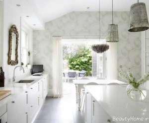 مدل کاغذ دیواری روشن برای آشپزخانه