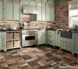طرح زیبا و جذاب سرامیک برای آشپزخانه