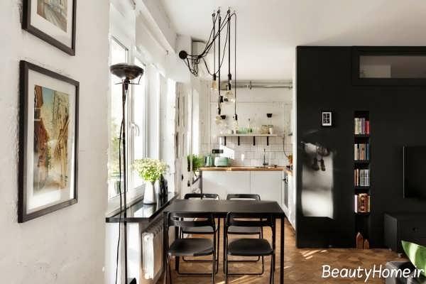 طراحی داخلی خانه کوچک و 50 متری