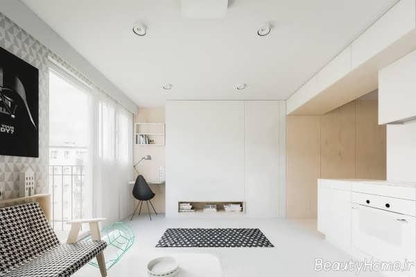 طراحی زیبا و شیک خانه 50 متری
