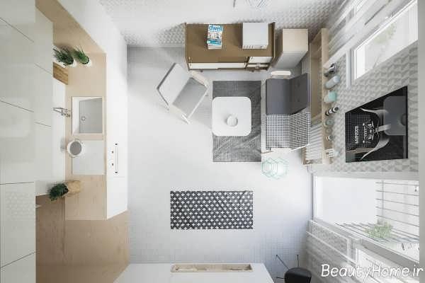 طراحی داخلی خانه 50 متری