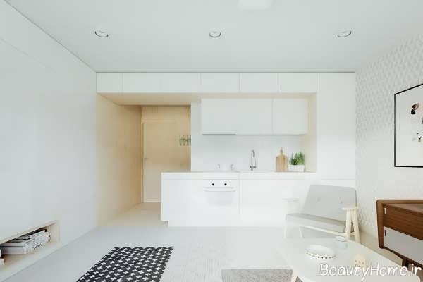 دکوراسیون سفید خانه کوچک