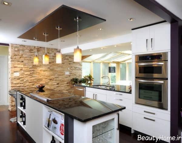 سقف چوبی آشپزخانه