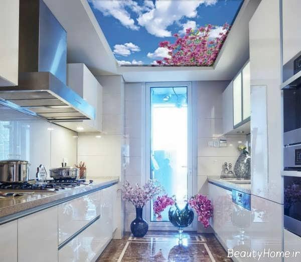 طراحی سقف زیبا اشپزخانه