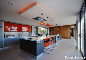 دیزاین زیبا و شیک سقف آشپزخانه