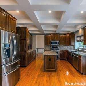 طراحی سقف زیبا و شیک برای آشپزخانه