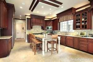 طراحی سقف آشپزخانه کلاسیک