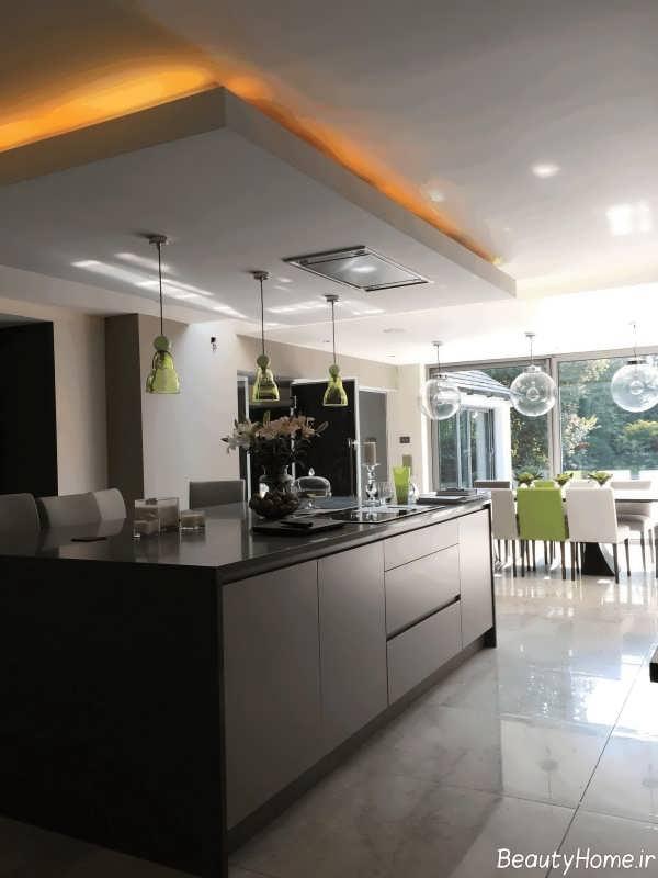 طراحی زیبا و کاربردی سقف آشپزخانه