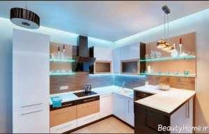 طراحی ساده سقف آشپزخانه