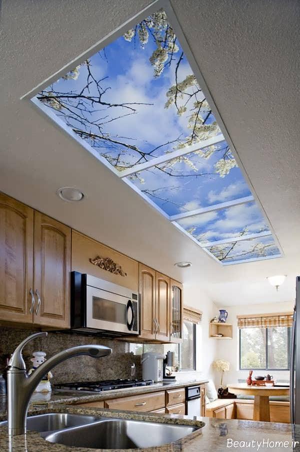طراحی آسمان مجازی برای سقف اشپزخانه