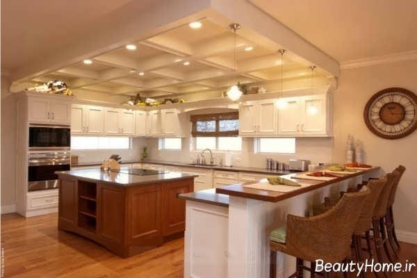 طراحی نورپردازی برای سقف آشپزخانه