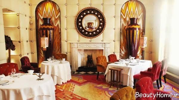 دکوراسیون زیبا و لاکچری رستوران